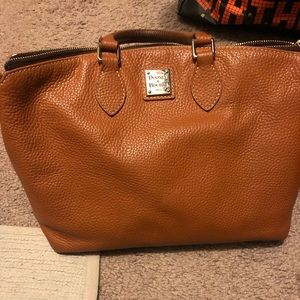 Dooney and Bourke genuine leather satchel